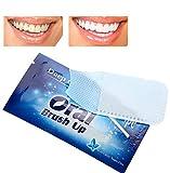 50Pcs White Strips, Bleaching Stripes, Zahnaufhellung Streifen, Dental Clean Zähne Wischtuch Zahnreinigung Werkzeug für die Orale Tiefenreinigung