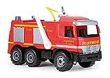 Lena 02058 - Starke Riesen Feuerwehr Mercedes Benz Actros, ca. 65 cm, großes Feuerwehrauto mit 3 Achsen, 1,5 Liter Wassertank, Wasserkanone bis 8 Meter, robustes Spielfahrzeug für Kinder ab 3 Jahre