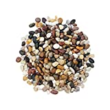 ZECAN Kieselsteine polierter Kies, Natürlicher geschliffener Deko-Kies, kleine dekorative Flussgesteinsteine Verwendung in Glaswaren, Vasen, Aquarien und Terrarien, um das Aussehen zu verbessern