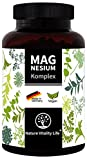 Magnesium Komplex Kapseln hochdosiert. 400mg elementares Magnesium je Tagesdosis für 3 Monate. Magnesiumcitrat, Magnesiumoxid, Magnesiumbisglycinat. Made in Germany. Laborgeprüft. Vegan.