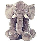 Woneart Baby Plüsch Elefant Kissen Weiches Spielzeug Kinder Lendenkissen Plüschtiere Kuscheltier Geschenke (Grau)