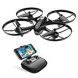 Quadricoptère RC FPV WiFi avec drone Potensic avec caméra HD 720P, transmission en direct, hold-up, retour à un bouton et mode sans tête, mode vitesse, décollage / atterrissage à un bouton, idéal pour les débutants et les enfants