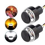 VIVILIAN 2 x LED-Motorrad-Lenker-Blinker, Griffleiste, Kontrollleuchte für Motorräder