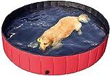 PeiQiH Falten Katzen Badewanne Kiddie Pools,Faltbare Hundepool Doggy Pool Badewanne,Outdoor Tragbarer Haustier-dusche-Pool,Oversize Haustier Schwimmbecken Für Große Hunde Rot Durchmesser80cm(31inch)