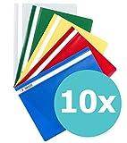 ELBA 100742149 Schnellhefter A4 10er Pack aus Kunststoff fr ca. 160 DIN A4-Bltter farbig sortiert