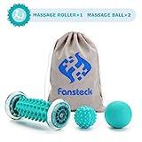 Fansteck Igelball und Fußmassageroller set für Plantarfasziitis, Muskel Roller & Bälle Set, Schmerzlinderung für Hacken & Fußgewölbe, Stressreduzierung und Entspannung durch Triggerpunkt-Therapie