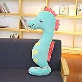 CushionsHome Cartoon Seepferdchen Plsch Spielzeug weiche Plsch Kissen Puppe kuschelig geflltE Tier Fisch Puppe fr Kinder Mdchen Baby Geschenk 80cm rot