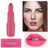 TOWAKM Lippenstift,Miss Rose Lippenstift Matt wasserdichte Langanhaltende Lip Kosmetik Make Up