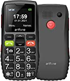 artfone GSM Seniorenhandy ohne Vertrag | Dual SIM Handy mit SOS Notruftaste | Rentner Handy großen Tasten | Großtastenhandy mit Ladegerät und Kamera | Lautes Audio | 1400 mAh Akku Lange Standby Zeit