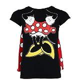 Disney Mädchen Schlafanzugoberteil, Einfarbig Schwarz Schwarz One size Gr. 42, multi