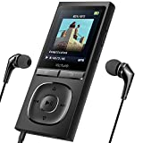 Victure MP3 Player 100 Stunden Standby-Zeit Portable Verlustfreien Klang Musik Player 8GB-Speicher Erweiterbar auf bis zu 64 GB mit Kopfhörer 1.8TFT-FM Radio Voice Recorder