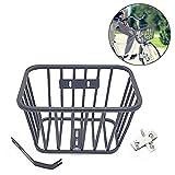 Weitong Fahrradkorb für Vorne, Schultaschenkorb Fahrrad Korb für Gepäckträger, 25 x 18 x 15,2 cm