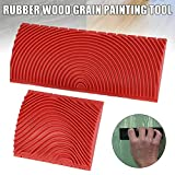 Holzmaserung Walze-Holzmaserung 2-teiliges Set DIY Holzmaserung Gummi Malerei Effekt Werkzeugmuster