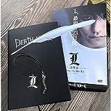 XIECUI taccuinoSet de cuaderno de notas de la muerte del AnimeDiario de cuero y pluma, Kragen, Diario, Block de notas de la muerte para regalo A5 A02