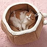 JRUI Zwinger, Katzen und Hunde Haus for Katzen-Chinchilla-Käfig Frettchen Kitten Nest Rattenkäfig Katzenbett Netter Welpen Kennel Pet Supplies Pink Only one Size