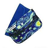 Cussi MaskCase - 2er Pack rechteckige Boxen für Masken (blau, VAN GOGH)