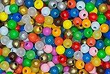 nice to see Kinder-Bastelperlen 120 Bastelperlen (BPA-frei) Ø 11 mm, Fädelloch 3 mm, Made in Germany, bunt-Mix nach dem Zufallsprinzip