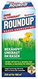 Roundup Rasen-Unkrautfrei Konzentrat, Spezial-Unkrautvernichter zur Bekämpfung von Unkräutern im Rasen mit sehr guter Rasenverträglichkeit, 250 ml für 165 m²