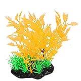 JYKFJ Künstliches Wassergras, Simulations-Wassergras, Rosa/Orange Hohe Pflanze Aquarium Landschaft für Aquarium Dekor Pflanzen Aquarium (Orange Wasserpflanzen)