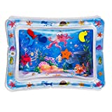 Bao xiang Inflatable Water Mat Play Pad Leakproof Water Filled Fun Cushion Toy Mattress Playmat Tummy Time for Kids Baby Stimulation Growth 50 * 60cm Blue 1pc
