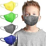 AHOTOP FFP2 Masken, Masken Mundschutz, FFP2 Maske Bunt Kleine Größe, FFP2 Maske CE Zertifiziert, FFP2 Maske Farbig, FFP2 Maske Blau Grau Grün Gelb, Gesichtsmaske Mund Nasen Schutzmaske 20 Stück