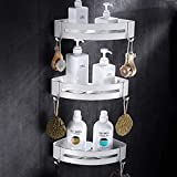 ZQJSC Badezimmer-Rack Nagel-freies Badezimmer Regal kosmetische Zahnstange mit Einhebel Bad Rack-Shelf-Rack Duscheck Eckablage Raum-Aluminium Badezimmerregal (Color : A3)