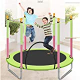 M-YN Gartentrampolin Outdoor 4.6FT Trampolin for Kinder-Trampolin mit Netz Sicherheitskabine Federn Turngerät (Color : Green)