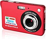 CamKing Digitalkamera, 6,9 cm (2,7 Zoll) TFT LCD 18 MP 8X HD Mini Digital Kompaktkamera mit Zoom,...