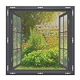 EXTSUD Fliegenschutzgitter für Fenster,Fenster Fliegengitter Insektenschutz Fliegengitter Fenstergitter Fliegenschutz Insektenschutzgewebe Zuschneidbar und feinmaschig für alle Fenster, 150 x 150 cm