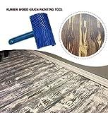 Farbroller Blue Rubber Holzmaserung Diy Graining Malwerkzeug,holzmaserung Pattern Wall Painting Roller,mit Griff Home Tool 2pcs