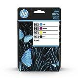 HP 953 Multipack (Blau/Rot/Gelb/Schwarz) Original Druckerpatronen für HP Officejet Pro 7720, 7730, 7740, 8210, 8710, 8715, 8720, 8725, 8730, 8740