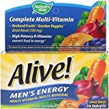 Nature's Way, Alive!, Multivitamin-Multimineral, Energie fⁿr MΣnner, 50 Tabletten