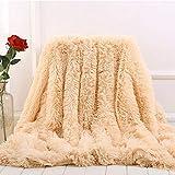 WanXingY 160x200 cm Felldecke Lila Furry Pelz Artificial Bett-Sofa-Decke weich und bequem Warm Fluffy, ohne zu verblassen (Farbe : Milky White, Size : 160x200cm)