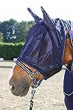 Pfiff 102144 Fliegengesichtsmaske mit Ohren, Fliegenschutz für Pferde, blau