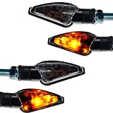 Motorrad Halogen Mini Blinker Toledo schwarz rauchgrau getönt e-geprüft vorn hinten 2 Paar universal