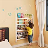 GAOX Wandregale Wohnzimmer Kreative Kinderzimmer Wandbehang Regal Kindergarten Wanddekoration Rack -1030 (Color : White (MDF))