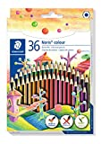 Staedtler 185 CD36 Noris Colour Buntstift (erhöhte Bruchfestigkeit, Sechskantform, attraktives...