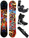 Airtracks Snowboard Set/Board Another World Carbon Wide Hybrid Rocker 164 + Snowboard Bindung Master + Boots Savage Black 44 + Sb Bag