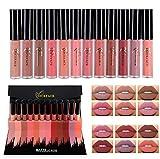 Someas Europe Style Matte Lipstick Lippenstift High End Gift Box Lip Gloss Set 12 Color Set Long Lasting Lips Cosmetics