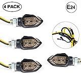 EXLECO 4Pcs LED Motorrad Blinker 12V LED Micro Blinker Universal SMD Mini blinker Motorrad mit E-Prüfzeichen für Motorrad/Motocross/Fahrrad