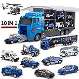 LYKJ-COLORS Spielzeug Autos, Polizeiauto Polizeiwagen Spielfahrzeug Kinder Mini Auto Geschenkset für Kinder ab 3 Jahren 10 Pcs