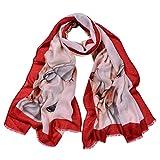 HEETEY Mode Strand Schal, Damenmode Balinese Print Federn Lightweight Beach Sunscreen Schal