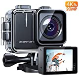 APEMAN Action Cam A100, Echte 4K/50fps WiFi 20MP Unterwasserkamera Digitale wasserdichte 40M...