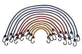 Meister Gepäckspanner-Set 12-teilig - 6 Längen: 25 cm bis 90 cm - Stahlhaken mit PVC-Überzug - Dehnbar & reißfest - Für Ladesicherungen aller Art / Spanngummi mit 2 Haken / Expander / 8638400