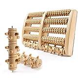 GGC Premium Fußmassageroller inkl. AUSTAUSCHBAREN Rollen I Fußroller Holz ideal für Zuhause & Büro I Foot Massager zur Vorbeugung & Linderung von Schmerzen I Fußmassagegerät aus Holz