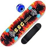 Complete Standard Skateboards 78,7 cm (31 Zoll) Anfänger Double Kick LED Leuchtrollen Teens Deck für Erwachsene Kinder Mädchen Jungen Premium Maple Cruiser #8 _ 80 x 20 cm