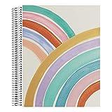 Erin Condren bemaltes Regenbogen-Notizbuch für Kinder, Spiralbindung, 21,6 x 27,9 cm, für Block und kursive Handschrift mit austauschbarem Cover, dickes Papier, inklusive Aufkleber