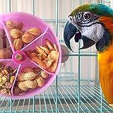 Vektenxi Haustier-Vogel-Papageienkäfig-Fütterungsgerät-Spielzeug, das rundes Rad-Plastiknahrungsmittelkasten-Purpur dreht Kreativ und nützlich