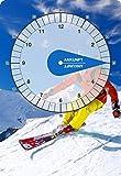 carstyling XXL Parkscheibe Österreich mit Skifahrer ~ schneller Versand innerhalb 24 Stunden ~