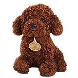 Teddy Hund Puppe Spielzeug Stofftier Plüsch Hund Stofftier Welpen-Kissen-Kissen Dunkelbraun LEIBAO